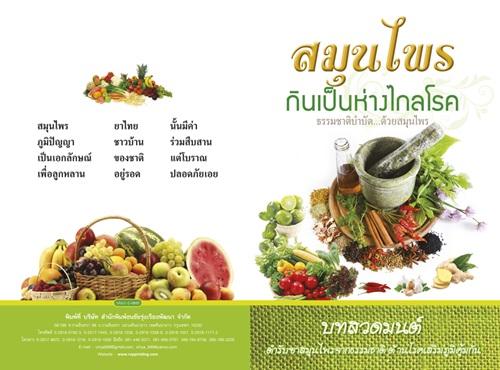 สมุนไพรไทยกินเป็นห่างไกลโรค